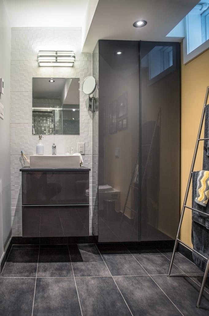 Projet Grande-Allée | Rénovation d'une salle d'eau au sous-sol – Réalisations – Capital 6
