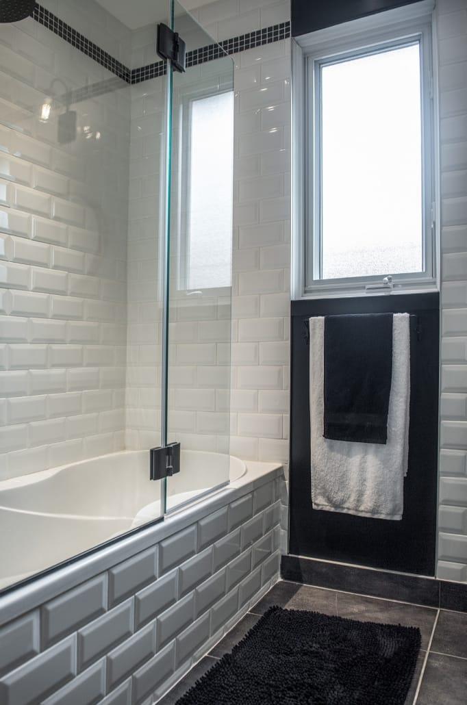Projet Grande-Allée | Salle de bain, Rénovation d'un sous-sol – Réalisations – Capital 6