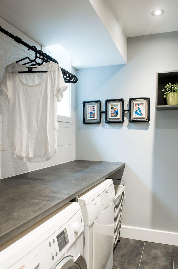 Projet Grande-Allée | Salle de lavage – Rénovation sous-sol – Réalisations – Capital 6